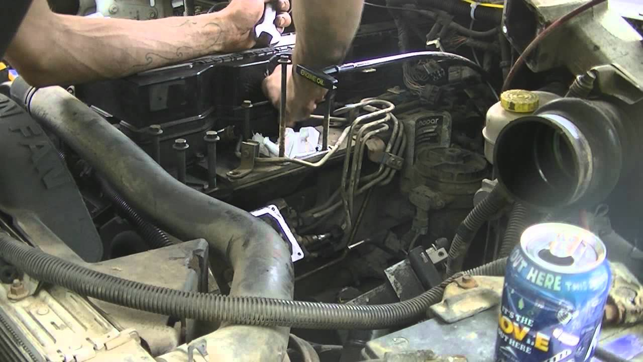 01 Cummins: Injector Line Removal (072412)  YouTube