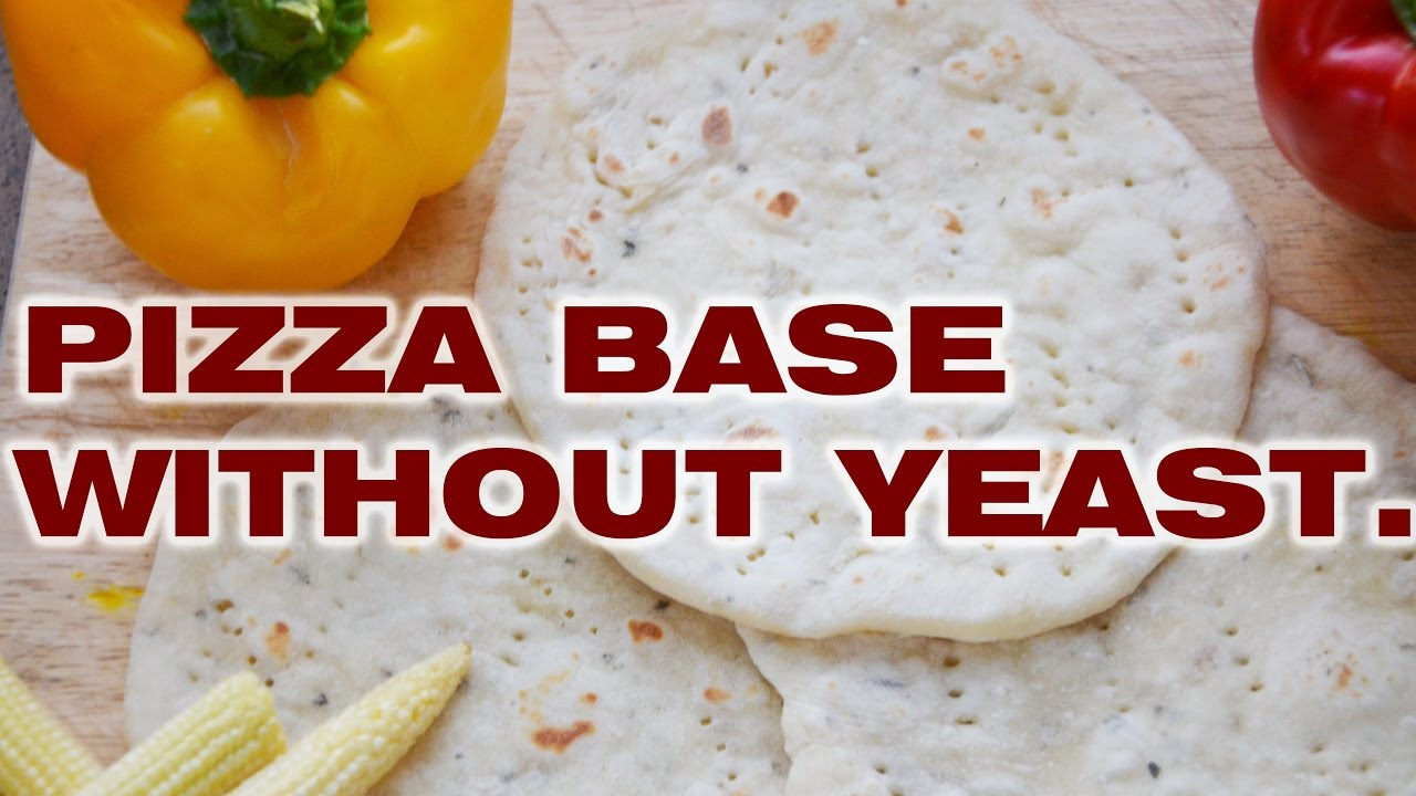 pizza bread / pizza base / no yeast pizza base / jain ...