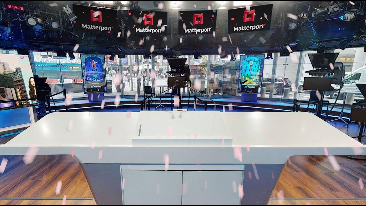 Matterport slaví svůj veřejný debut digitalizací stránek Nasdaq MarketSite