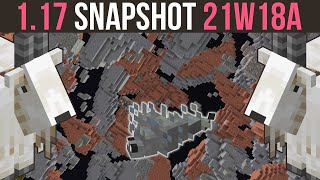 Minecraft 1.17 Snapshot 21w18a Infested Blocks, Ramming Goats & Ore Vein Changes