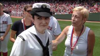 U.S. Navy Officer Surprises Her Family at Fenway Park on Independence Day