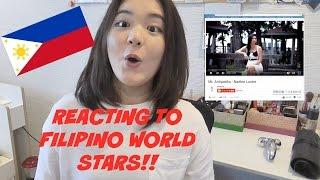 Japanese Reacts to Filipino World Stars - 日本人がフィリピンの有名人にリアクトしてみた!- 일본인 필리핀 연애인 본 리엑션!