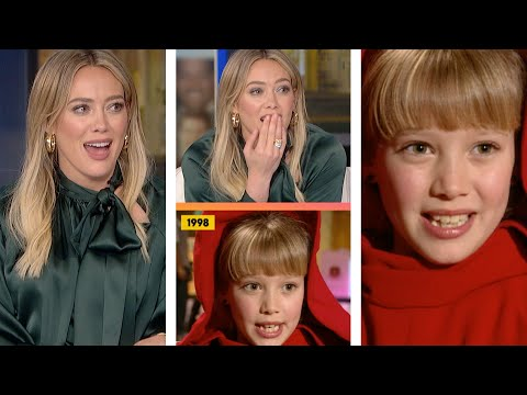 Hilary Duff REACTS To Her First ET Interview shorts