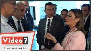 سحر نصر تتفق على إجراء كشف سرطان الثدى لكل موظفى وزارتها