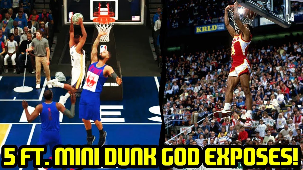 "5 7"" MINI DUNK GOD EXPOSES SPUD WEBB NBA 2K18 MYTEAM"