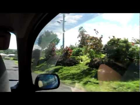 Driving around Savai'i, Samoa to Christian-ized covers on the radio (June 13, 2011)