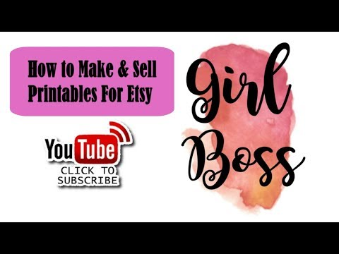 How To Make & Sell Printables And Instant Downloads For Etsy
