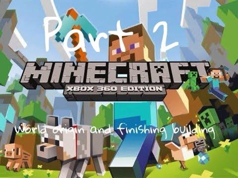 Minecraft xbox 360 edition:Building RafCity pt2 world origin's and finishing building!