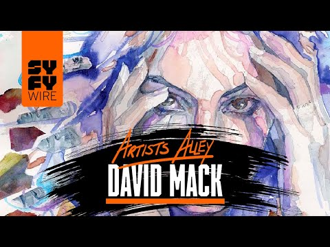 Watch Daredevil, Death And Jessica Jones Sketched By David Mack (Artists Alley) | SYFY WIRE