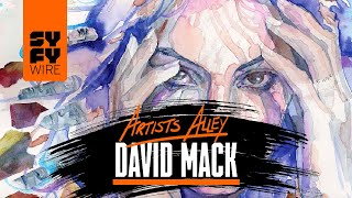 Daredevil, Death And Jessica Jones Sketched By David Mack (Artists Alley) | SYFY WIRE