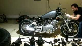 82 virago cafe racer build timelaps break down part 1