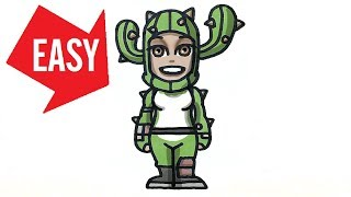 How to draw Fortnite skins【Prickly Patroller】Easy & Cute drawing|Jolly Art NEGI