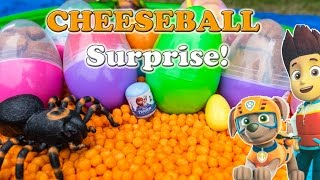 Surprise Eggs Disney Paw Patrol + Peppa Pig + Blaze World Largest Cheeseball Surprise Egg Video