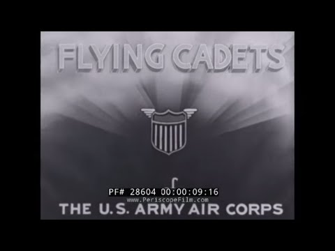 1940s U.S. ARMY AIR FORCE FLYING CADETS  RECRUITMENT FILM  BASIC FLIGHT TRAINING  28604