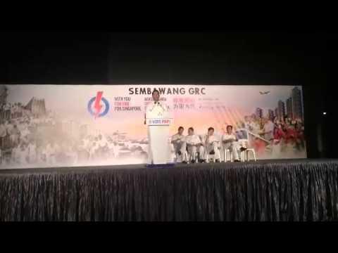 PAP's Vikram Nair Greets The Crowd At Sembawang