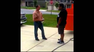 MUST SEE!!  War On BBQ in AMERICA!! Man can't cook in his own yard!!