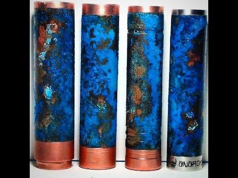 Patina 4 Copper Tube Mods With Salt, Baking Soda and Amonia