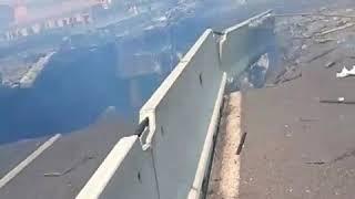 live bridge collapse video