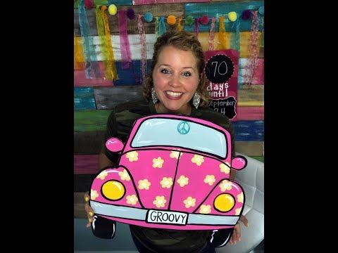 How to Paint a VW Bug Door Hanger with Tamara Bennett
