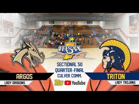 Argos Vs Triton - Girls IHSAA Sectional 50 Quarter Final 🏀 2-4-2020