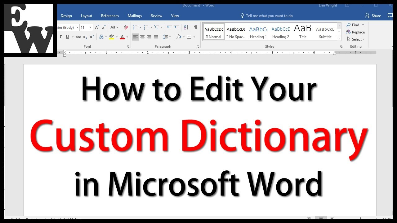 How to Edit Your Custom Dictionary in Microsoft Word