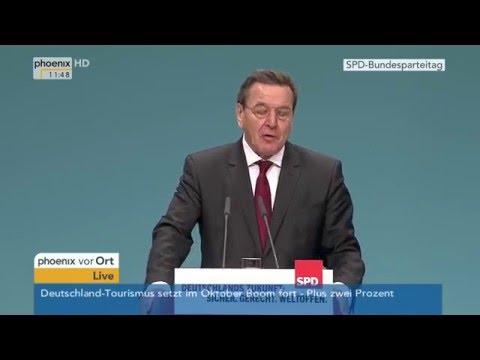 SPD-Parteitag: Rede von Gerhard Schröder am 10.12.2015