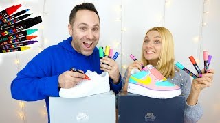 ON CUSTOM DES AIR FORCE 1 EN COUPLE ! | Sophie Fantasy
