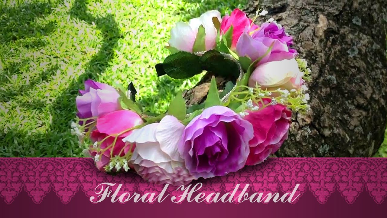 Diy Floral Headband Flower Crown Headband Tutorial Youtube