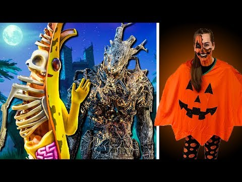 I Dressed Up in a Halloween Costume & Makeup! (Fortnite & Dead by Daylight Gameplay)