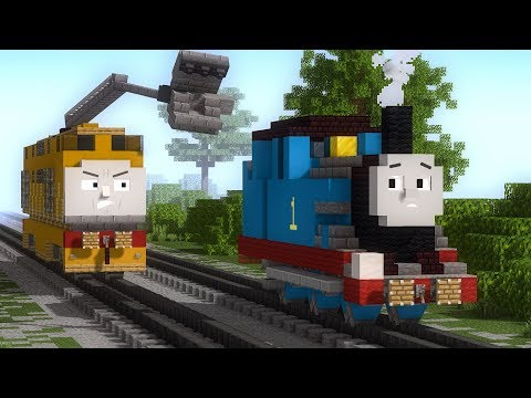 Minecraft Thomas & the Magic Railroad Chase Animation
