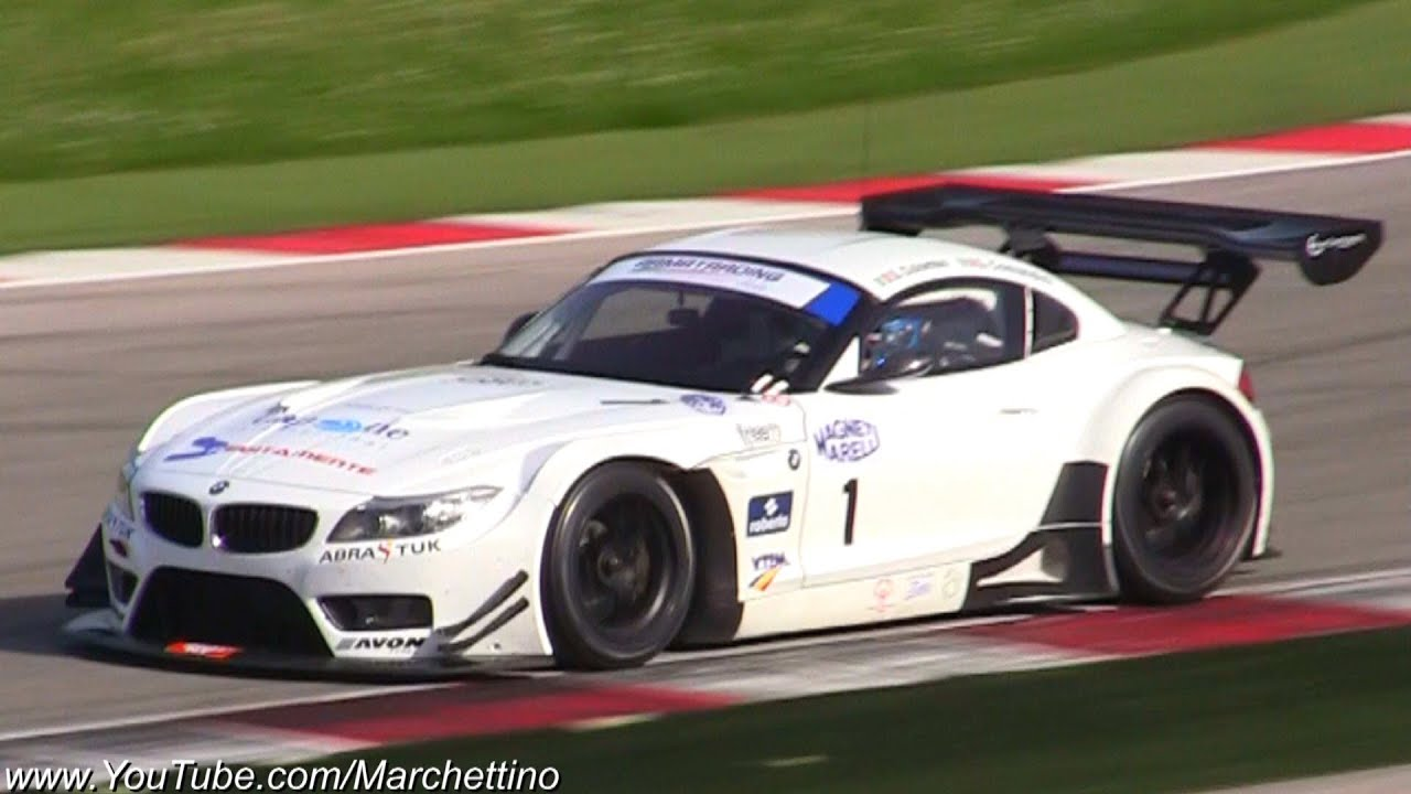 Bmw Z4 V8 Gt3 Great Exhaust Sound Youtube