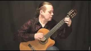 Урок на гитаре Менуэт соль мажор (Валерий Литвинов - гитара)