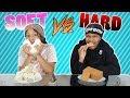 Download HARD VS SOFT FOOD CHALLENGE!