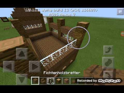 minecraft pe wie baut man ein sch nes holzhaus youtube. Black Bedroom Furniture Sets. Home Design Ideas