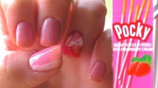 Japanese Pocky Biscuit Nails