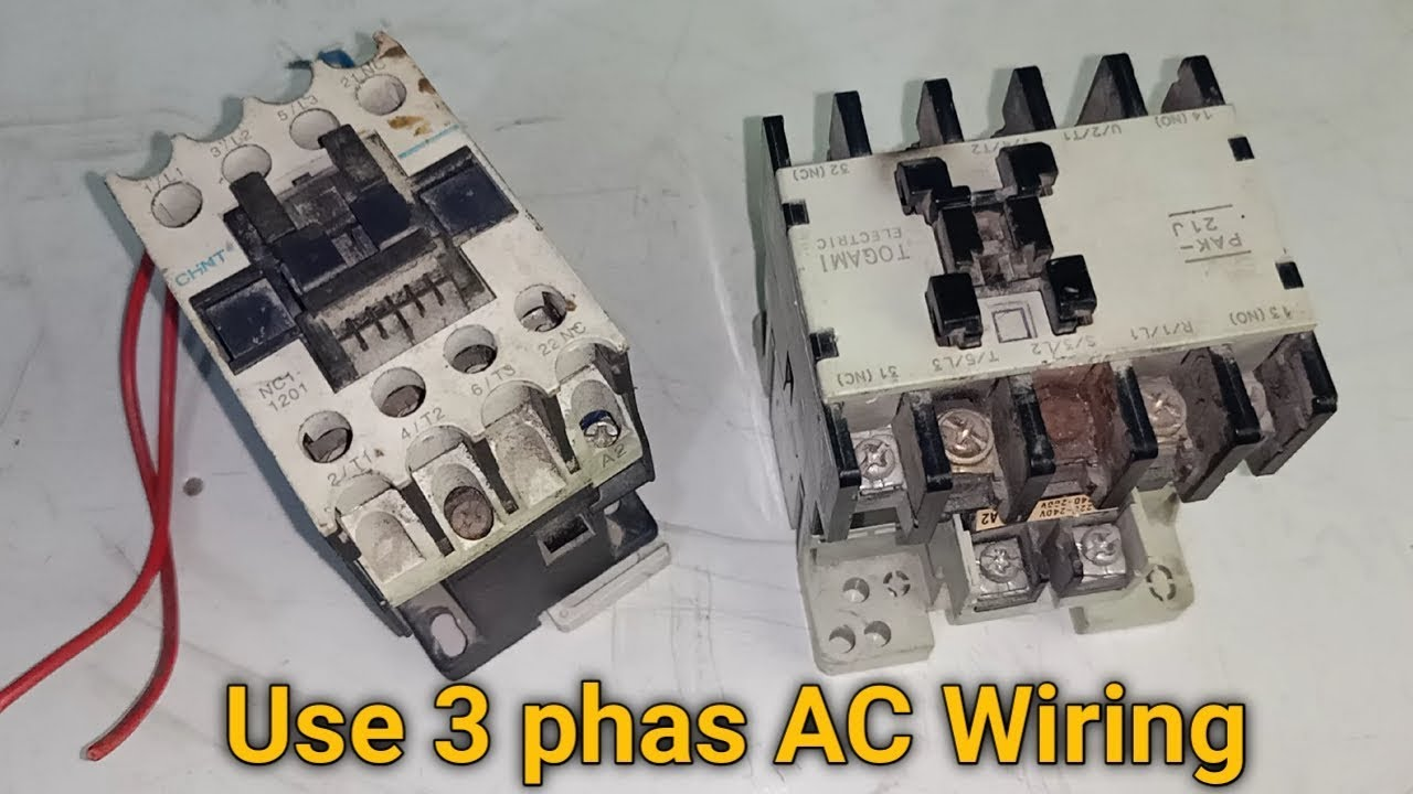 3 Phase Ac Use 4 Pool Magnetic Contactor Full Wiring