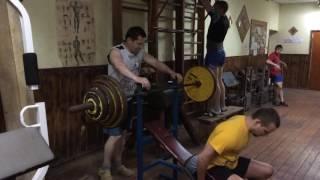 4.06.16. Жим в наклоне 132.5 кг на 1. Решетов. Щигры.