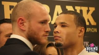 """I SMELL FEAR ON THE STAGE!"" INTENSE GEORGE GROVES-CHRIS EUBANK JR HEAD TO HEAD!"