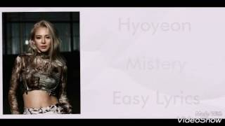[Easy Lyrics] Hyoyeon - Mistery Mp3