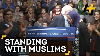Bernie Sanders Hugs Muslim Student And Vows To Fight Racism