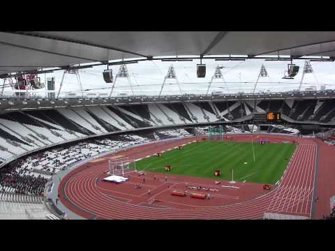 UK News Event : London Olympic Park, visit to new Olympic Stadium and Aquatic Centre, May 2012