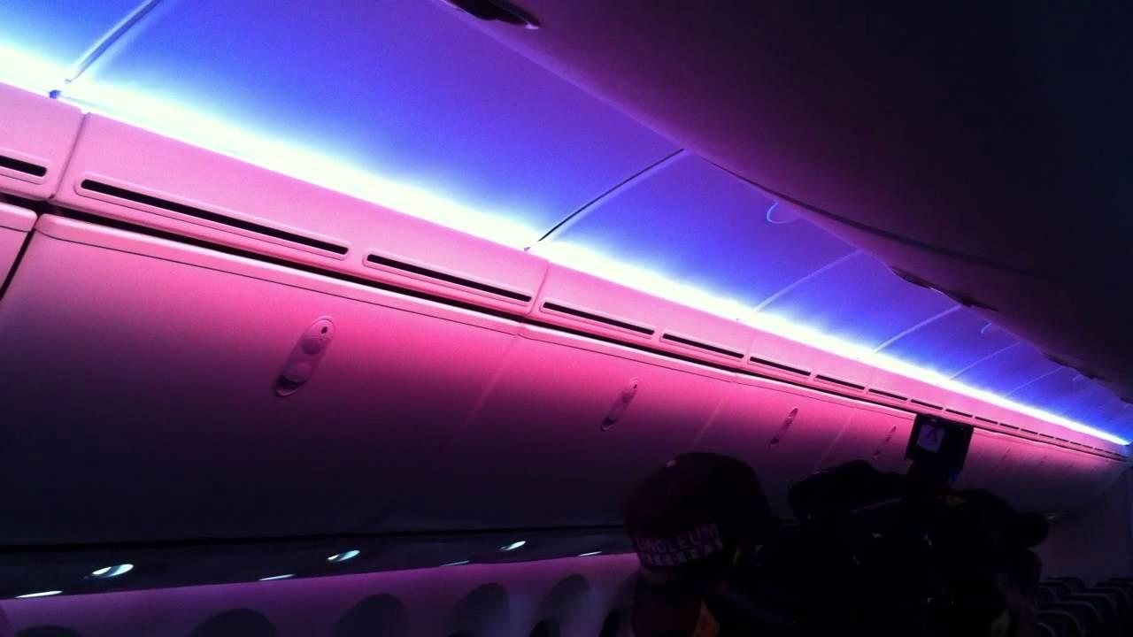 Boeing 787 Dreamliner Led Lighting System Youtube