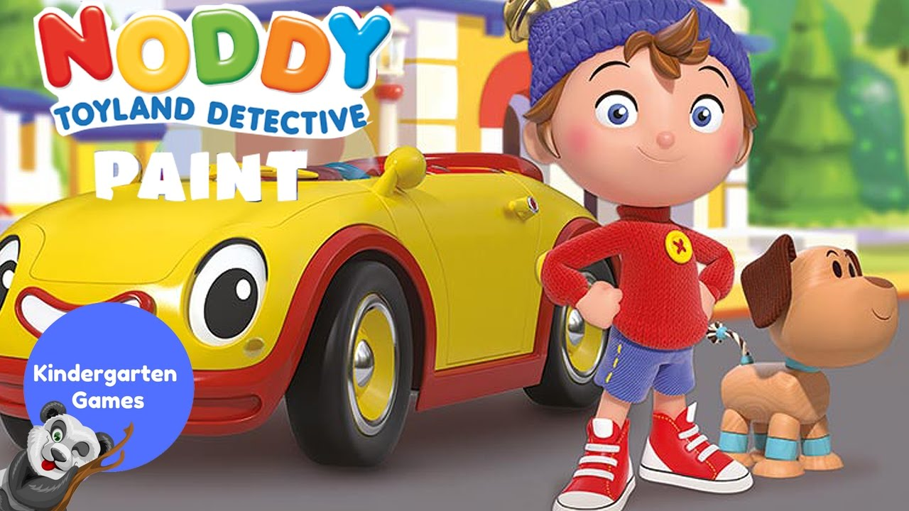 NODDY Toy Land Detective Paint & Coloring Pages