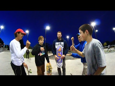 Kids with worst boards at a skatepark compete for a new board. Heartwarming twist at the end