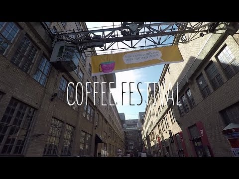 Helsinki Coffee Festival and cooking food in a van