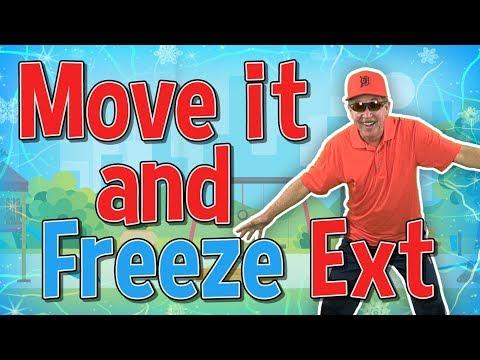 Move it and Freeze Extended | Brain Breaks | Jack Hartmann