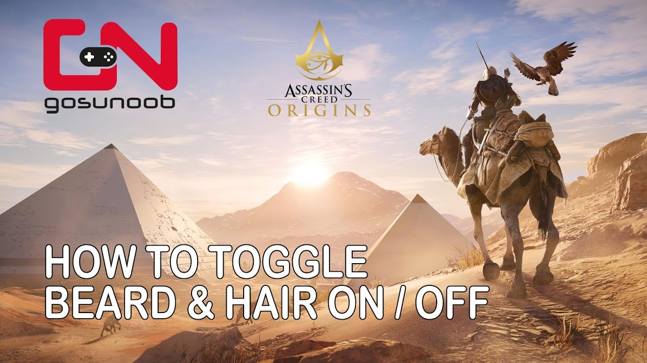 Assassin s Creed Origins  How to toggle beard   hair on   off - YouTube 6ac39443ed0