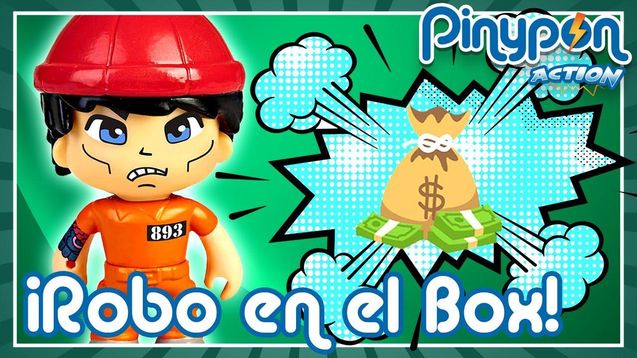 ROBO en el BOX de POLICÍA de Pinypon Action 💰👮 ¿Quién es el Pinypon LADRÓN?