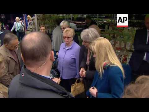 UK PM faces angry voter on campaign trail