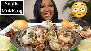 GIANT SNAILS MUKBANG , ( ESCARGOT ) SEAFOOD BOIL MUKBANG , EATING SHOW